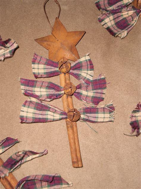 simple country girl homemade christmas ornies