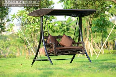 rattan garden swing foreign trade of the original single or double swing