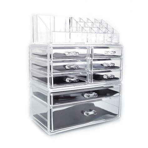 Organizer Kotak Organizer Make Up Organizer Kotak Kosmetik makeup cosmetics jewelry organizer acrylic display box storage w drawers ebay