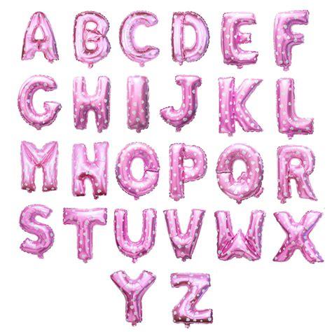 Balon Foil Letter pink letter foil balloon partysaurusland