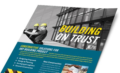Construction Marketing Brochures Flyers Postcards Marketing Material Templates