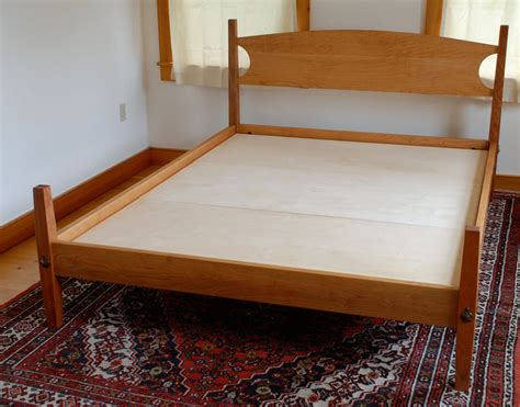 Handmade Beds - handmade custom cherry shaker hardwood platform bed from