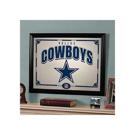 dallas cowboys home decor dallas cowboys black framed mirror home decor home