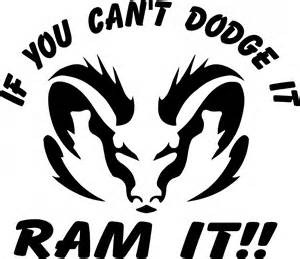 dodge ram can t dodge it ram it 4x4 road truck vinyl