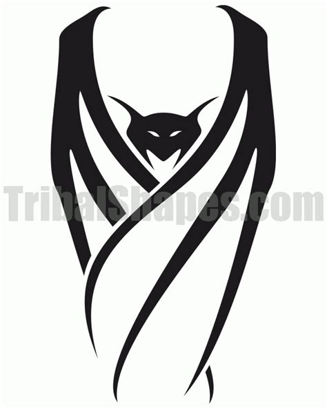 bat tribal tattoo quot bat 2 quot design