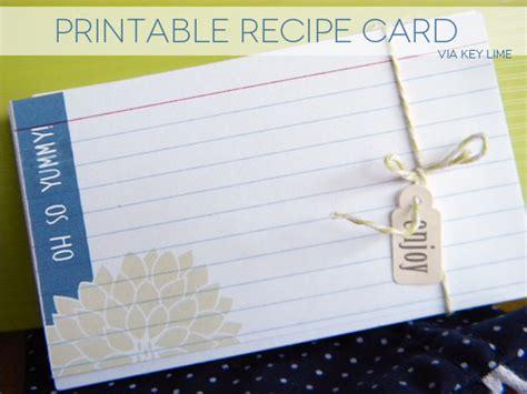 Printing Onto Index Cards Recipe Card Freebie Key Lime Digital Designs