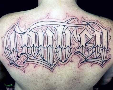 tattoo name on back 62 popular old english tattoos ideas designs about