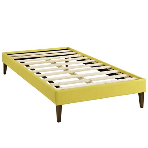 twin bed and frame sharon modern twin fabric platform bed frame with square