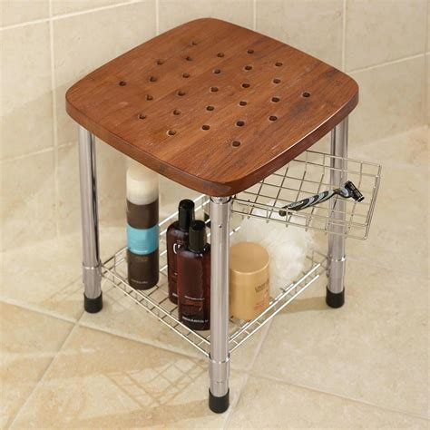 teak shower bench canada teak bathroom bench with storage