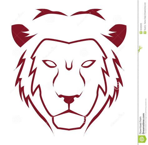 lion emblem stock vector image of cartoon illustration