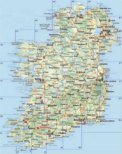 printable road maps ireland ireland maps printable maps of ireland for download