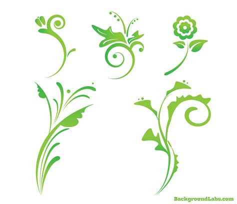 design free free floral vector set background labs