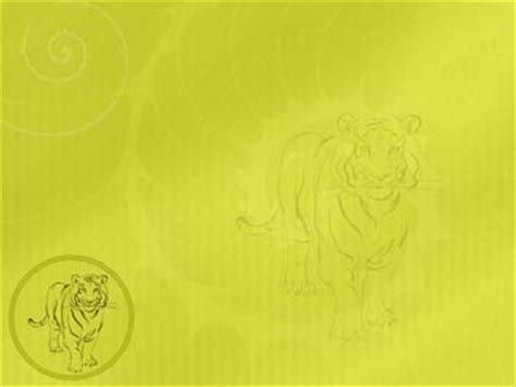 Chinese Zodiac Tiger 01 Powerpoint Templates Www Indezine Powerpoint Templates Freetemplates Html