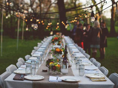 Backyard Dinner by We Outdoor Dinner B Lovely Events