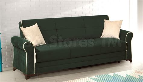 couch with bed inside 20 best collection of green microfiber sofas sofa ideas