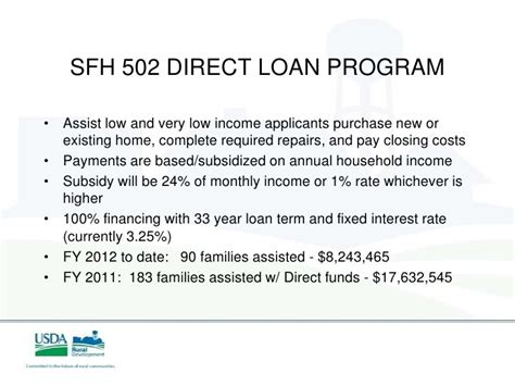 section 502 direct rural housing loan 502 direct rural housing loan rural development housing