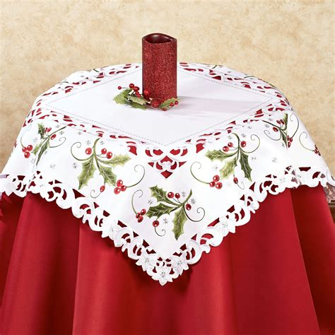 and lace 36 inch square table topper