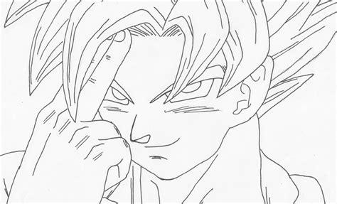 imagenes de goku para dibujar a lapiz completos dibujos para colorear de gok 250