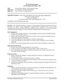 How To Write A Resume For A Manager Position by Store Manager Resume Berathen