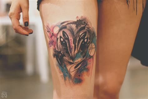 watercolor tattoo black and white with watercolor tattooer dener silva scene360