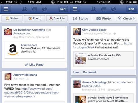 facebook themes ios hands on facebook 5 0 for ios is as speedy as facebook