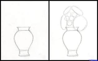 Drawing Flowers In A Vase by Simple Drawings Of Vase How To Draw Flowers In A Vase