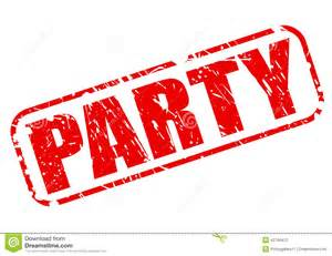 party red stamp text stock vector image 42740412