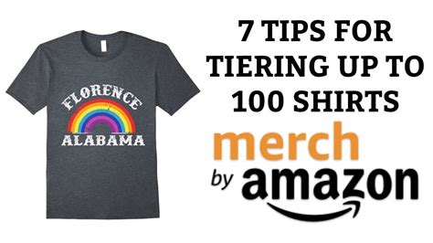 amazon merch 7 tips for tiering up to 100 shirts on merch by amazon