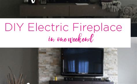 diy built in electric fireplace diy do it your self