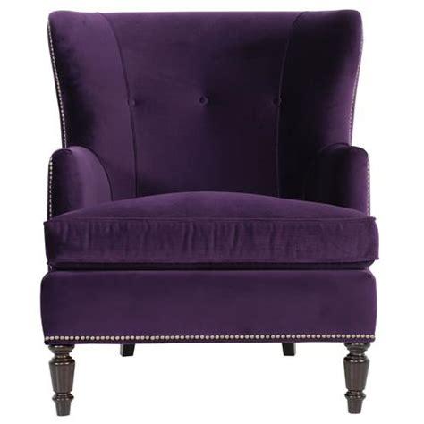 Purple Armchair by Nia Regency Antique Nickel Nailhead Purple