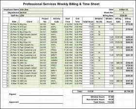 Professional Timesheet Template by Excel Billing Timesheet Templates For Professional