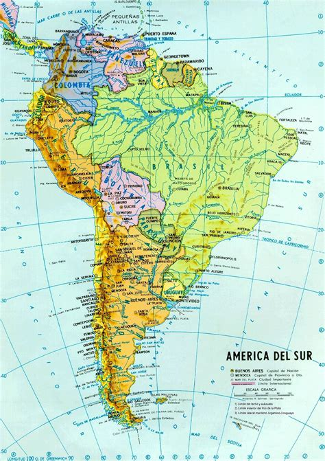 mapa topografico america sur america mapa fisico