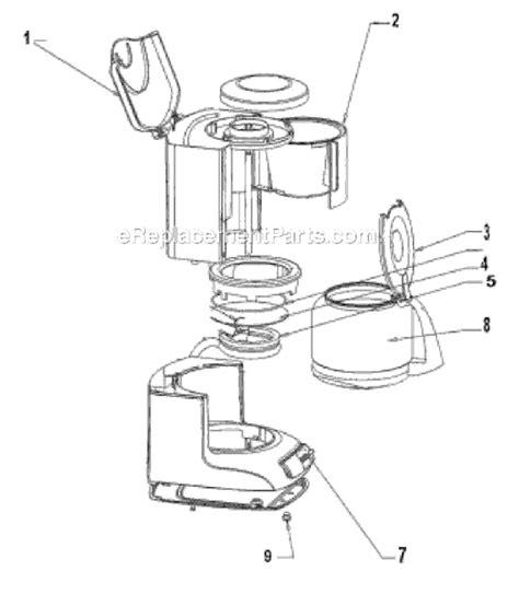 mr coffee parts diagram mr coffee ar12 parts list and diagram ereplacementparts