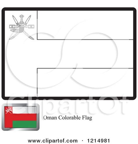 clipart of a coloring page and sle for an oman flag