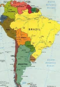 map of south america for