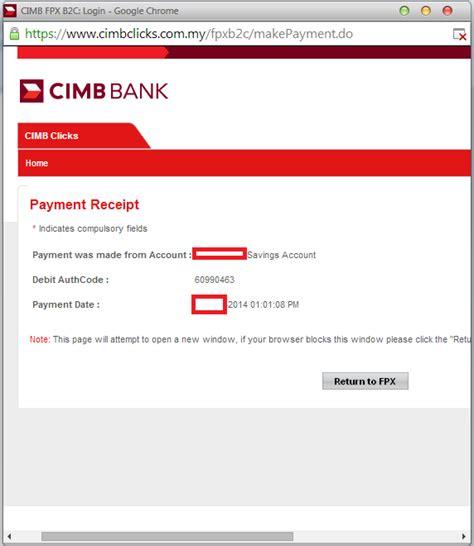 cara bank cara bayar ptptn secara banking