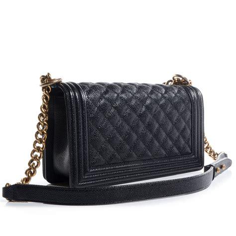Chanel Boy Black Caviar 20 chanel caviar medium boy flap black 69622