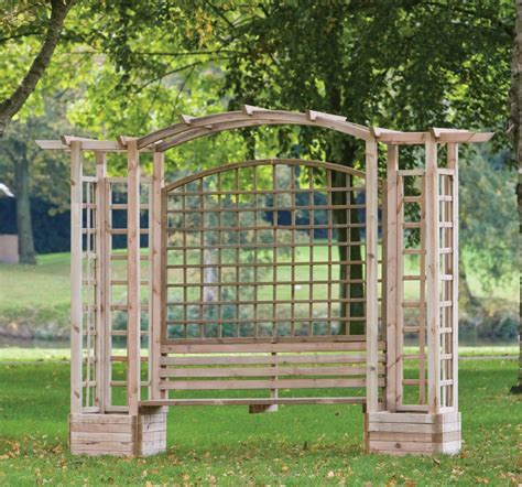 Arbor With Planters by Trellis Arbour With Planters