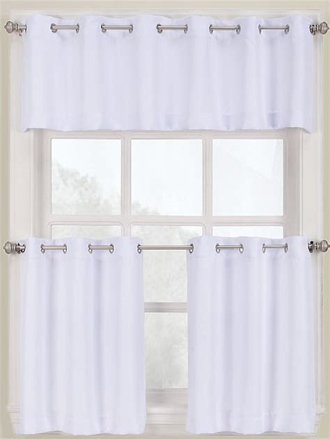 White Kitchen Curtains Montego Grommet Kitchen Curtains White Lichtenberg Grommet Valances
