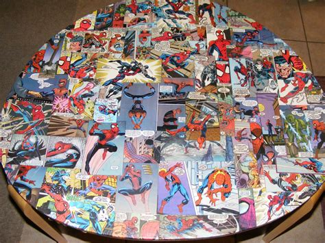 Decoupage Book Cover - decoupage with comic books