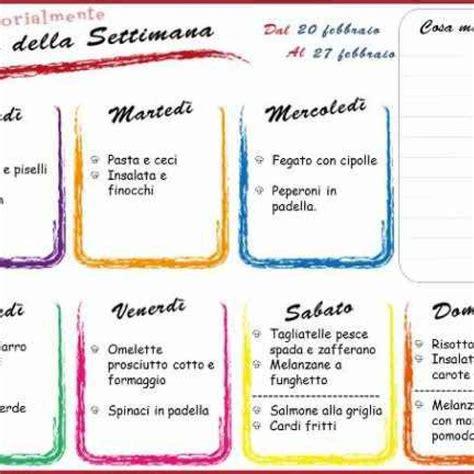 alimentazione corretta menu settimanale alimentazione menu settimanale 20 febbraio