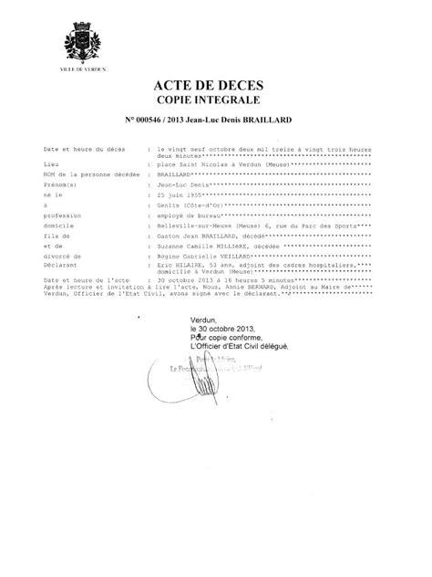 acte de deces fichier