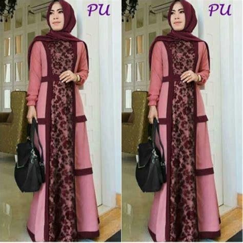 Baju Wanita Muslim Longdress Lotus Fit To gamis modern nike brokat a233 baju muslim pesta