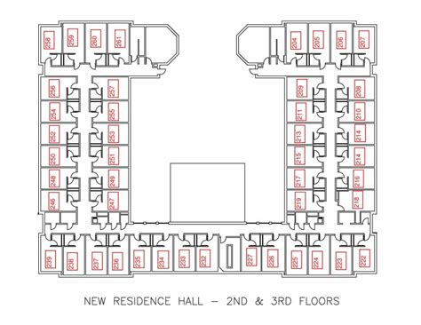 Dorm Room Floor Plan by New Residence Hall Residential Education And Housing