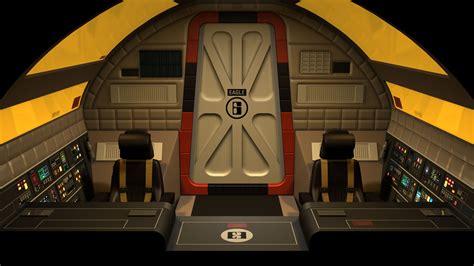 space interno inside spaceship cockpit