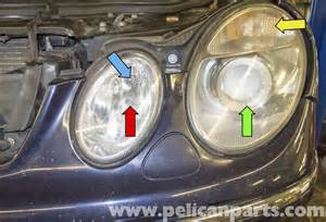Mercedes Light Bulb Replacement Mercedes W211 Headlight Replacement 2003 2009 E320