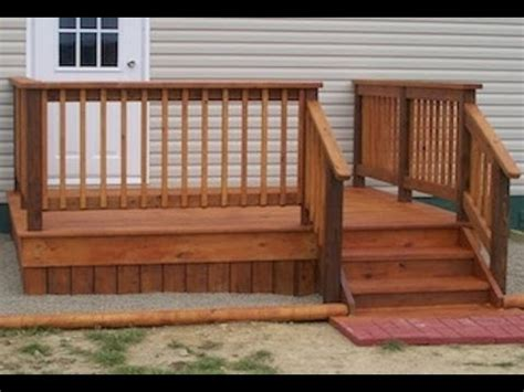 mobile home diy deck plans