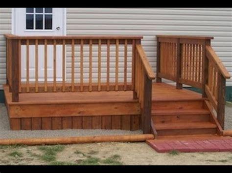 mobile home diy deck plans