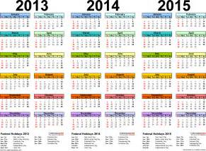 calendar 2014 template pdf 2013 2014 2015 calendar 2 three year printable pdf calendars