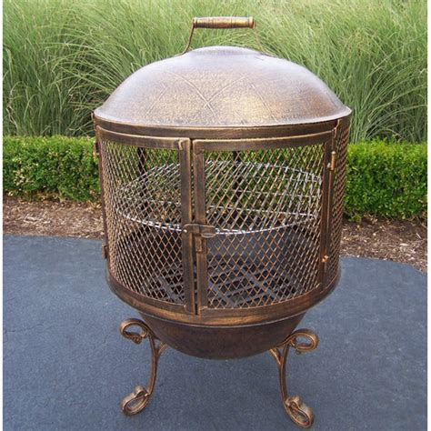 Living Accents Cast Iron Chiminea by Oakland Living Feast Cast Iron Wood Burning Chiminea